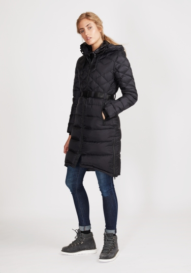 Ws Foxy Lace Down Coat_Black