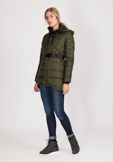 Ws Foxy Lace Down Parka_Military